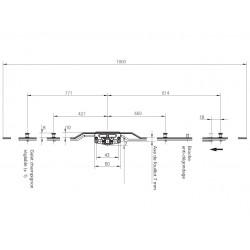 628434 - Crémone F7 GR.1800 pour coulissant simple